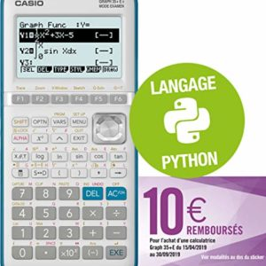 Casio-Graph35E-II-Calculatrice-Graphique-Python-0