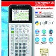 Texas-Instruments-83PREPTBL1E2-TI-83-Premium-CE-Edition-Python-Calculatrice-Graphique-Mode-Examen-0-0