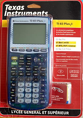 TEXAS-INSTRUMENTS-TI-83-PlusFR-Calculatrice-Graphique-0